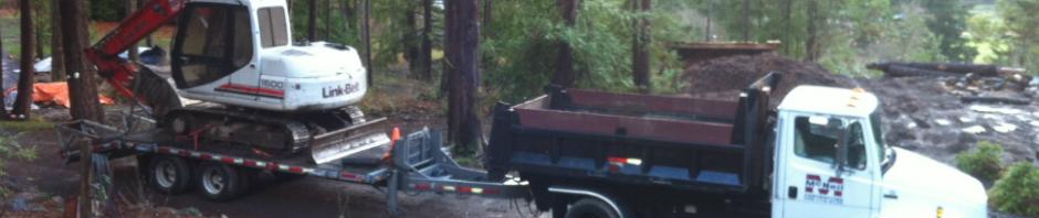 Dump Trailer & Excavator